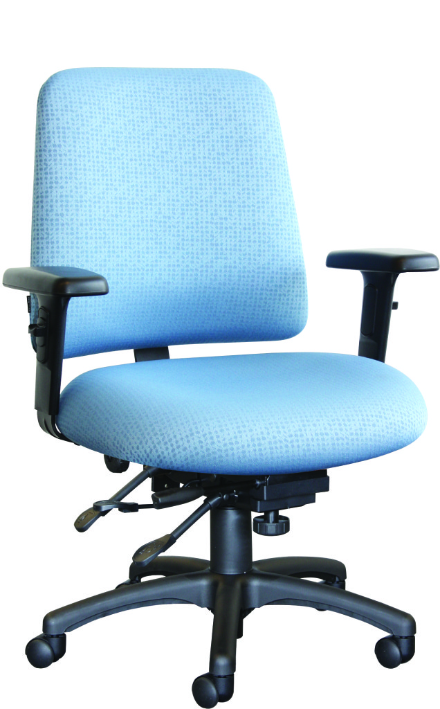 Horizon opus series 202 mid back task chair seating task for Waterfall seat design